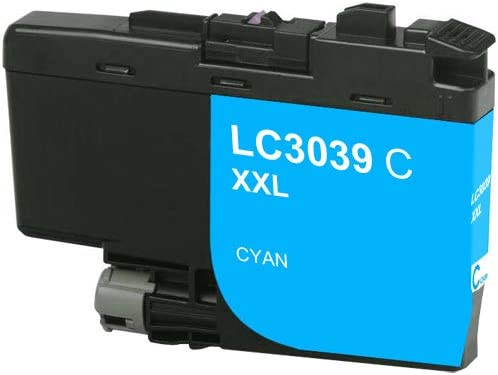 SuppliesMAX Compatible Replacement for Brother HL-6000//MFC-J5845//J5945//J6545//J6945DW Cyan Ultra High Yield Inkjet 5000 Page Yield LC-3039XXLC