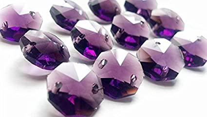 Amazoncom Chandelier Crystals Mm Violet Purple Octagon Prism - Chandelier crystals crafts