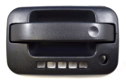 PT Auto Warehouse FO-3506A-FL - Outside Exterior Outer Door Handle, Textured Black - with Keypad Hole, Driver Side (Caa Door)