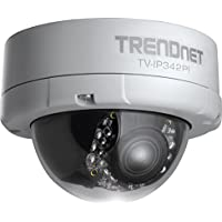 TRENDnet Indoor/Outdoor Dome Style,Vari-Focal PoE IP Camera, 2 Megapixel 1080p Full HD Resolution, 3x Optical Zoom, IP66 Weather Rated Housing, 50 ft. Night Vision, Micro SD Card slot, Digital WDR, Secu, Free TRENDnet App for Android, and IOS, ONVIF, IPv6 Compliant, TV-IP342PI