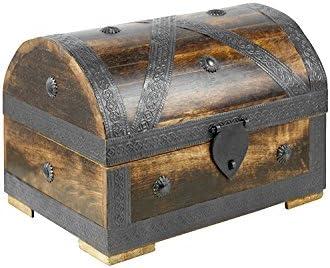 dark Columbus 31x18x18cm Handmade Vintage Design With A Front Lock Brynnberg Pirate Treasure Chest Storage Box