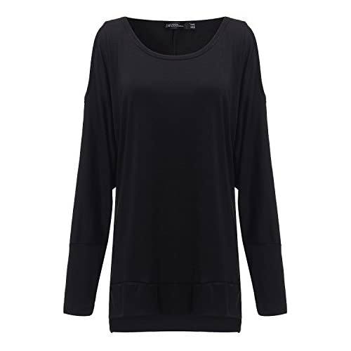530e078b23f61b new ZANZEA Ladies Crew Neck Off Shoulder Long Sleeve Blouse Tops Shirt