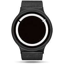 ZIIIRO Eclipse Steel Unisex Watches Black Snow