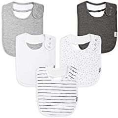 How to deal with your adorable little munchkin's drooling during teething, spits ups while burping or mealtime food messes? Put an end to drool rashes, and keep stress at bay with our handy, highly useful toddler bibs.KIDDYSTAR UNISEX DROOL B...