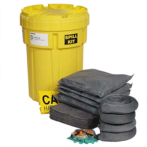 30 Gallon Spill Kit - SpillTech SPKU-30 47 Piece Universal 30 Gallon Spill Kit