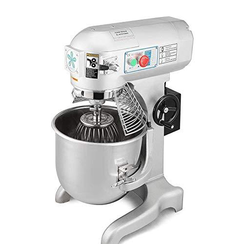 OrangeA Food Mixer Stand Mixer Electric Food Mixer Commercial Grade 20 Quart 1HP 750W Electric Food Dough Mixer 3 Speed Silver Food Processor (20-Quart)