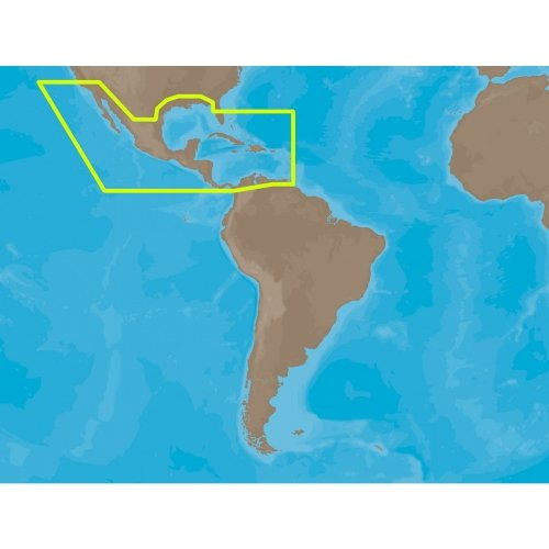 C-map Na (C-Map Max - Central America and the Caribbean - SD Card)
