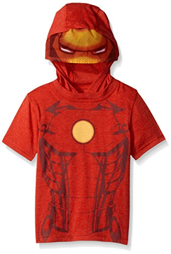 Little Boy Iron Man Costume (Marvel Little Boys' Toddler Costume Masked Hooded T-Shirt, Iron Man Red, 2T)
