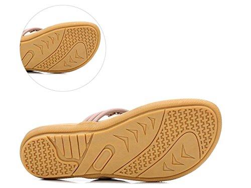 Las Flop de Sandalias Mujer Ligeras Zapatos Viajar DANDANJIE Chanclas Púrpura caseros para de Verano Flip para la señoras Respirables Playa Ideales del los de dEqXvx0xw
