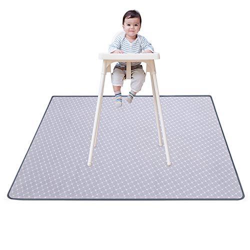 Splat Mat for Under High Chair Floor Mat Baby Waterproof Anti-Slip Splash Mess Mat Portable Play Mat and Table Cloth 51