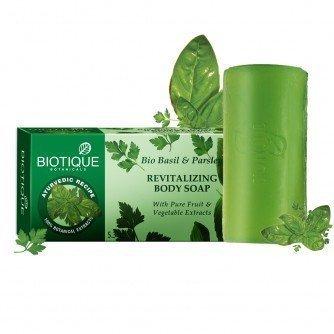 Biotique Bio Basil & Parsley Revitalizing Body Soap 150 Gm (PACK OF ()