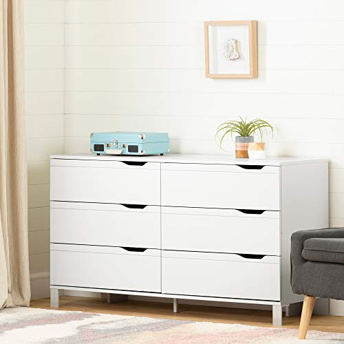 South Shore Kanagane 6-Drawer Double Dresser-Pure White (Sale White For Cheap Dressers)