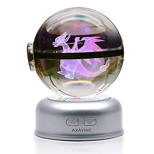 - AXAYINC 3D Crystal Ball 70mm LED Night Light Change Color Christmas Birthday Kids Gift. (7 Chao ji Long)