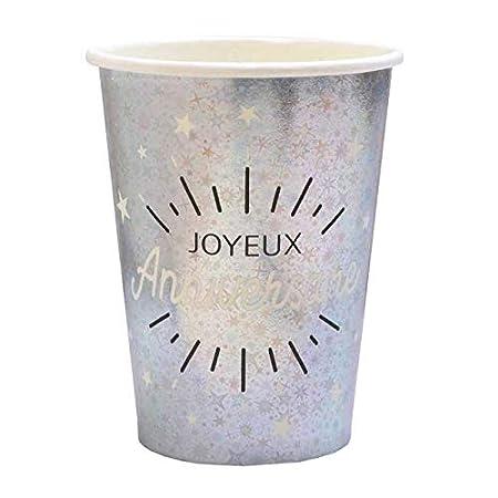 1001decotable - 20 Vasos de cartón, diseño de Feliz ...