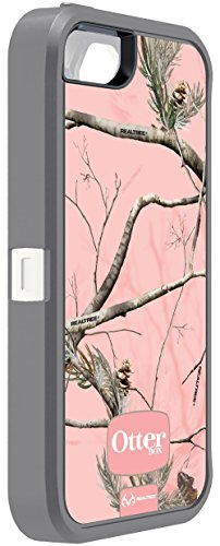 OtterBox Defender Case for Apple iPhone 5/5/SE in Retail Packaging (Realtree AP PINK (WHITE/GUNMETAL GREY)