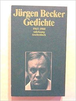 Gedichte 1965 1980 Amazon De Becker Jurgen Bucher