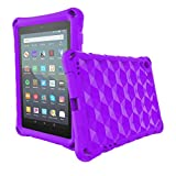 Fire 7 Tablet Case for kids, OQDDQO 2019 New Kindle Fire 7 Case, Extra Thick Protective layer Double-layer Shockproof in four Corners Compatible with 9/7/5th Generation 2019/2017/2015 Release (purple)