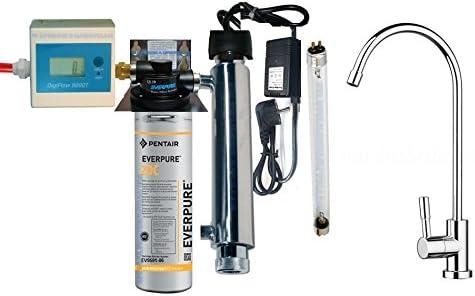 Purificador agua Kit Everpure 2DC con esterilizador UV y ...