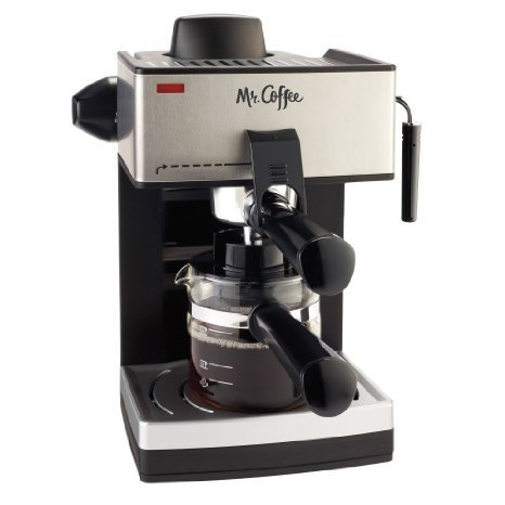 4-Cup Steam Espresso Machine in Black by Mr. Coffee by Mr. Coffee