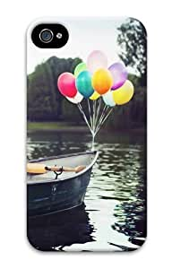 Balloon Boat PC For Apple Iphone 5/5S Case Cover