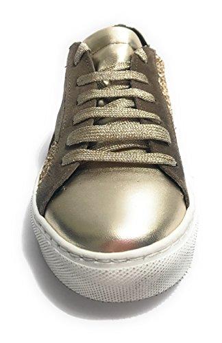 Suede laminato Stella Gold Brown Tony Wild D18tw10 Glitter Scarpe Donna Sneaker Xn8TFpq
