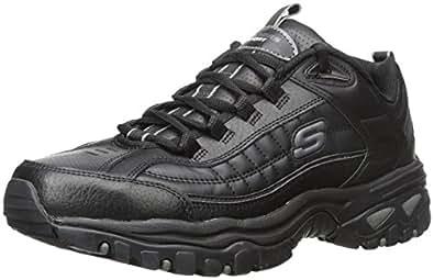 Skechers Sport Men's Energy Afterburn Lace-Up Sneaker,Black,6.5 XW