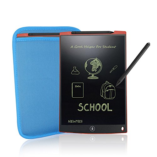 LCD Drawing Tablet Cheap Tablets - NEWYES NYWT120- 12 Inch Ewriter Lcd Writing Tablet Graphics Board Memo Pad, includes 1 Stylus 1 Sleeve Case 2pcs Magnet, 30 Day Service(Red) by NEWYES