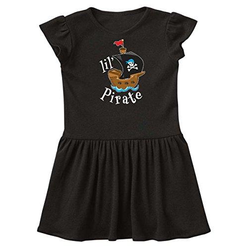 inktastic - Lil' Pirate Pirate Ship, Blue Bandana Toddler Dress 4T Black 2a4d6