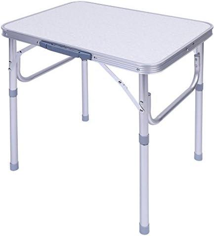 Zerone mesa de camping plegable (aluminio, mesa plegable portátil ...