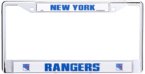 Nhl License Plates Plate - Rico Industries NHL New York Rangers Standard Chrome License Plate Frame