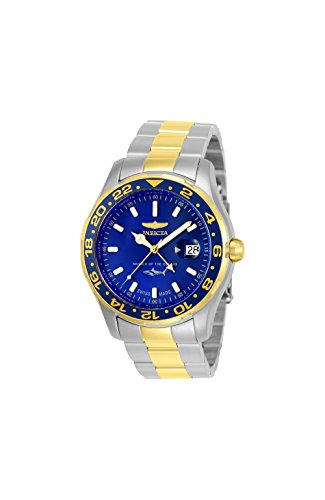 Invicta Men's 'Pro Diver' Quartz Stainless Steel Casual Watch, Color:Two Tone (Model: 25826)