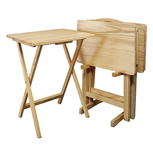 Casual Home 660-40 5 Piece Tray Table Set, Natural