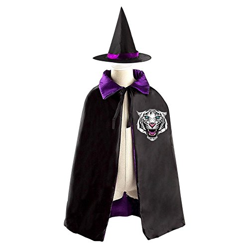 DBT I AM WILDCATS Childrens' Halloween Costume Wizard Witch Cloak Cape Robe and Hat