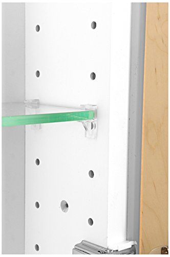 WG Wood Products FR-224-White Shaker Style Frameless Recessed In Wall Bathroom Medicine Storage Cabinet-Multiple Finishes, White Enamel/Glossy by WG Wood Products (Image #3)