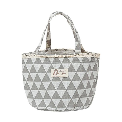 Tote Pail - SanCanSn Lunch Bag Clearance! Thermal Insulated Lunch Box Tote Cooler Bag Bento Pouch Lunch Container (1PC, GrayC)