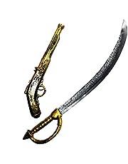 JOYIN 28 inch piraat zwaard en 16 inch piraat pistool set