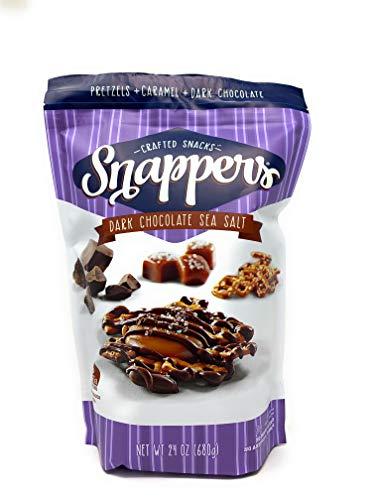Cups Caramel Milk Chocolate - Snappers Dark Chocolate Sea Salt Caramel Pretzels, 24 Ounce
