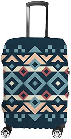 スーツケースカバー 抽象的 幾何学 民族風 伸縮素材 キャリーバッグ お荷物カバ 保護 傷や汚れから守る ジッパー 水洗える 旅行 出張 S/M/L/XLサイズ