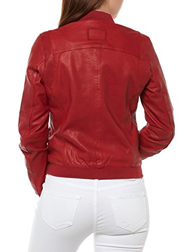 TIGHA JACKE LEDERJACKE ROT DAMEN LEXA 101791 JACKET RED WOMEN, Größe:M