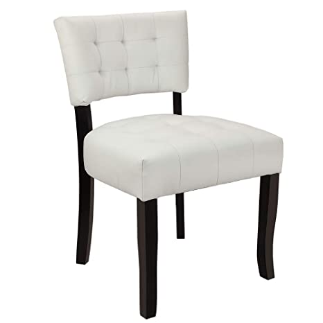 Superb Homegear Oversized Tufted Faux Leather Accent Chair White Inzonedesignstudio Interior Chair Design Inzonedesignstudiocom