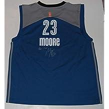 MAYA MOORE signed (MINNESOTA LYNX) WNBA basketball jersey W/COA (UCONN HUSKIES) - Autographed College Basketballs