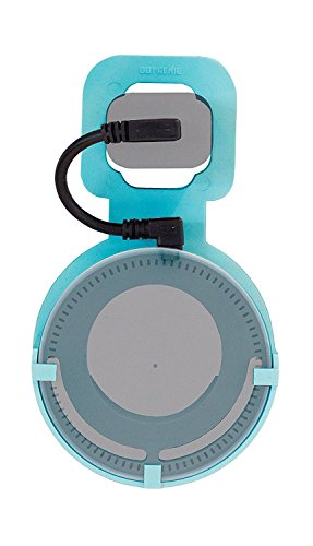 The Dot Spot by Dot Genie: The Original Outlet Wall Mount Hanger for Amazon Echo Dot - Redesigned for 2018 - Designed in USA - No Messy Wires or Screws - Multiple Colors (Aqua)