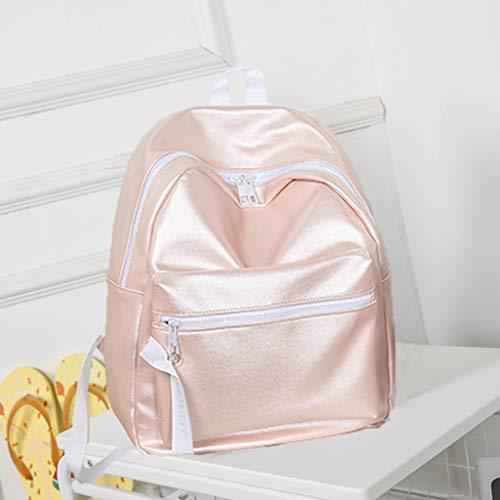 Signature Drawstring Handbag - DDKK bags Drawstring Backpack Bag Sport Gym Sackpack-Unisex Bag Sequins Leather Backpack Girls Small Travel Bling Backpacks-Children Large Size with Zipper and Water Bottle Mesh Pockets
