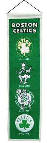 "Boston Celtics Wool 8""x32"" Heritage Banner"