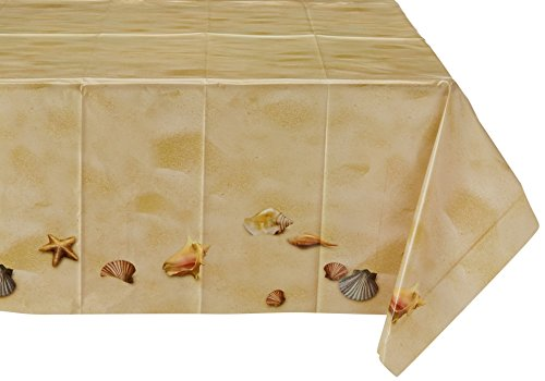 Beistle 57876 Beach Table cover, 54-Inch by 108-Inch