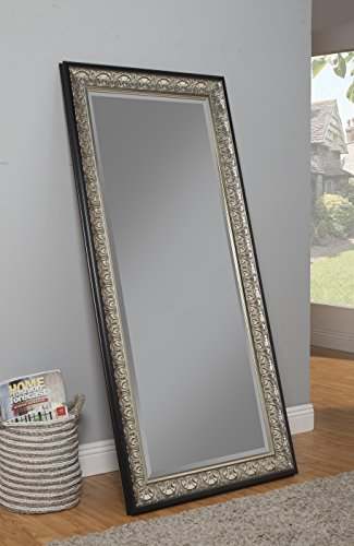 Sandberg furniture 16011 full length leaner mirror frame for Full length mirror black frame