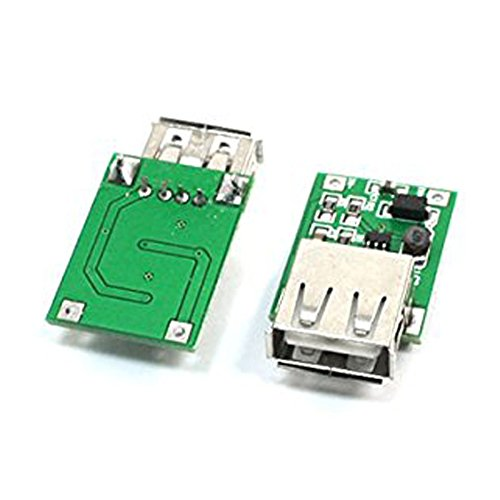 5 pzs 0.9V a 5V DC-DC conversor USB conexion Modulo de impulso aumentado 600mA Verde TOOGOO Modulo de impulso R Plata