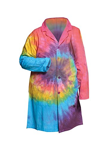 United Scientific LBCTSM Tie Dye Lab Coats, Small (Coat Lab Dye Tie)