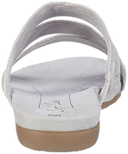 Softline 27161, Mules para Mujer Blanco (White/silver 191)
