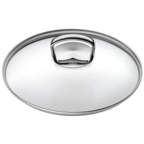 Silit Glasdeckel 28 cm mit Metallgriff, Deckel für Woks, hitzebeständiges Glas, spülmaschinengeeignet